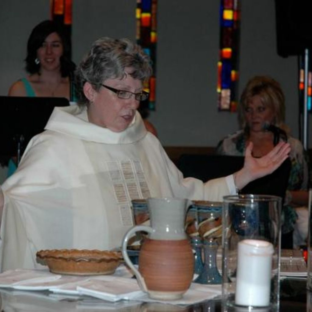 elaine presiding at her ordination - formatted